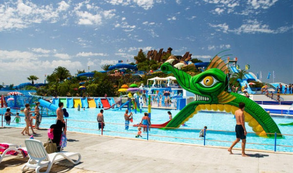 Water parks in the Algarve, slide and Splash