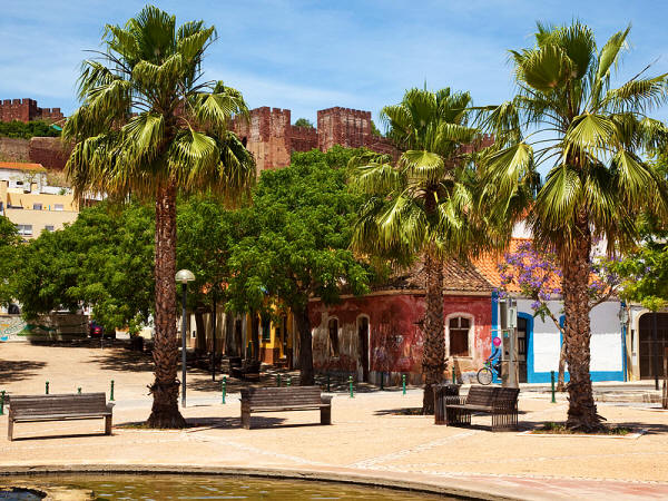 Silves, with the medieval castle on the background